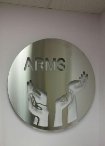 WATERJET PROJECT - ARMS SIGN