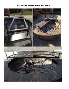 Custom Fire Pit Grill