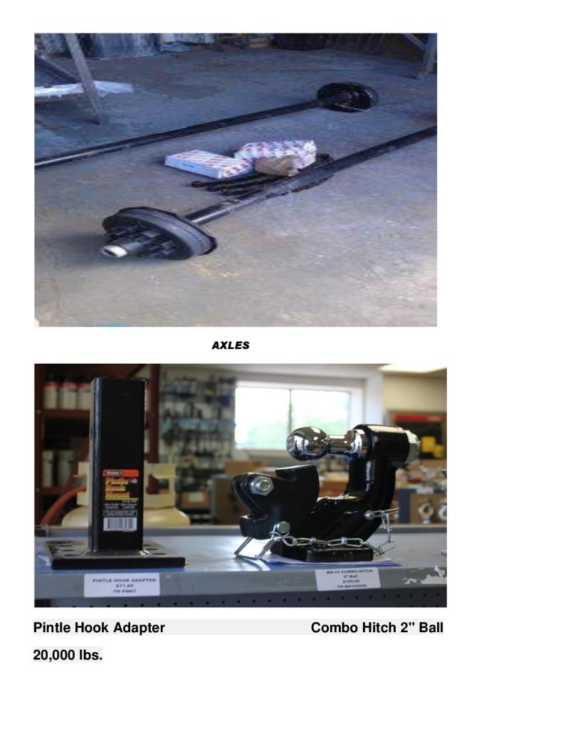 Axles, Pintle Hook Adapter-1